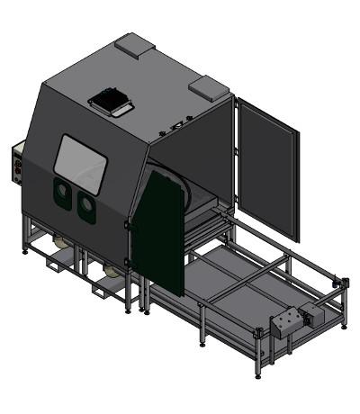 BNP 721 Strahlkabine mit angetriebenem Drehteller