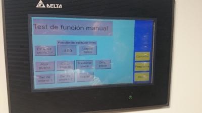 Scaffolding blast cabinet control panel
