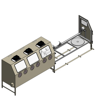 Aircraft parts blast cabinet