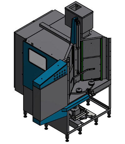A-200 automatic blast cabinet for cheese knifes