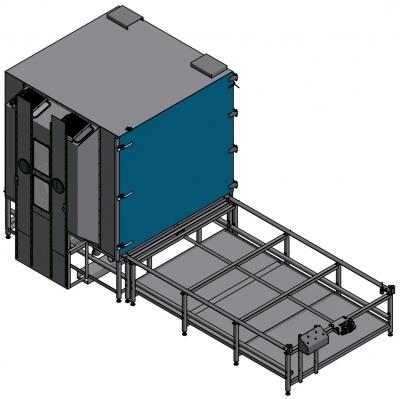 BNP 721 modifizierte Strahlkabine - vergrößert