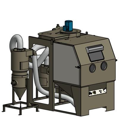 Universal-Strahlkabine Druck und Injektor