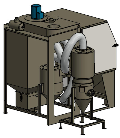Pressure- and Injector blast cabinet