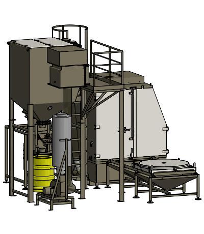 Strahlkabine für Kraftwerkrückbau